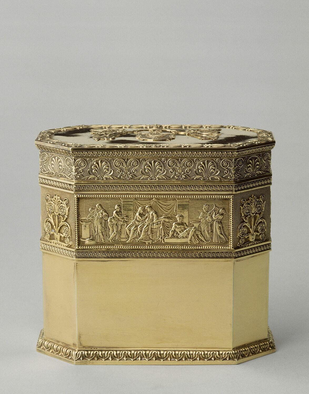Boîte à thé octogonale du service à thé de Napoléon Ier et de Marie-Louise